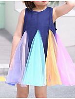 Недорогие -Дети (1-4 лет) Девочки Радужный Платье Темно синий