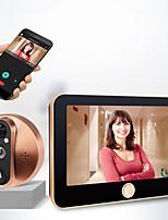 Недорогие -M20 200 Вт интеллектуальный электронный кошачий глаз дверной звонок беспроводной домофон видео дверной звонок 4,3