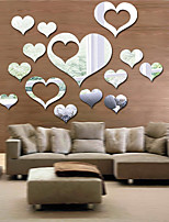cheap -Hearts Wall Stickers Mirror Wall Stickers Decorative Wall Stickers  , Acrylic Home Decoration Wall Decal Wall Decoration 1pc
