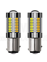 Недорогие -2шт 1157/3157 светодиодные 4014 66 smd авто лампы накаливания указатели поворота лампы стоп-сигнала 12-24 В двухцветный белый янтарь