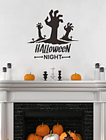 cheap -Halloween Decorations / Holiday Wall Stickers Plane Wall Stickers / Holiday Wall Stickers Decorative Wall Stickers, PVC Home Decoration Wall Decal Wall Decoration 1pc