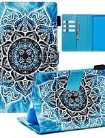 Недорогие -Кейс для Назначение Amazon Kindle Paperwhite 2018 Кошелек / Бумажник для карт / С узором Чехол Цветы Кожа PU / ТПУ