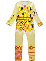 Недорогие -Дети Мальчики Уличный стиль С принтом Длинный рукав Набор одежды Желтый