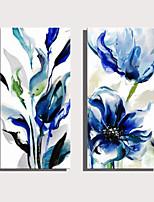 Недорогие -С картинкой Роликовые холсты Отпечатки на холсте - ботанический Цветочные мотивы / ботанический Modern Репродукции