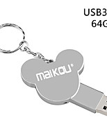Недорогие -Maikou 64 г металл серебро usb3.0 флэш-накопитель Cute U диск Pen Drive Pendrive карты памяти флэш-карты