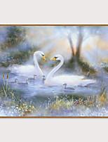 Недорогие -Отпечаток в раме Набор в раме - Пейзаж Животные Полистирен Масляные картины Предметы искусства