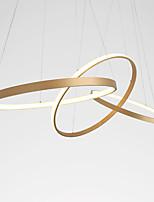 Недорогие -светодиодная современная люстра / новый дизайн кольцо золотая подвесная лампа для гостиной офисная столовая алюминий творческий теплый белый / белый / с возможностью затемнения с пультом