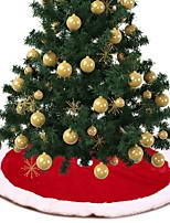 Недорогие -Рождественские украшения Новогодняя тематика Хлопковая ткань Круглый Мультипликация Рождественские украшения