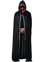 Недорогие -Призрачный кварц Товары для Хэллоуина Взрослые Муж. Хэллоуин Хэллоуин Фестиваль / праздник полиэфирное волокно Черный Муж. Жен. Карнавальные костюмы / Костюм