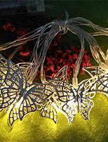 Недорогие -1,5 м гирлянды 10 светодиодов теплый белый мило / партия / рождественские украшения свадьбы батарейки 1 комплект