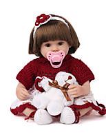 Недорогие -NPK DOLL Куклы реборн Куклы Мальчики Девочки 20 дюймовый Безопасность Подарок Очаровательный Детские Универсальные / Девочки Игрушки Подарок