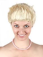 Недорогие -Косплей Овальные Rock Косплэй парики Жен. 10 дюймовый Синтетика Золотистый Золотой Аниме