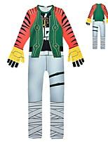 Недорогие -Дети Мальчики Уличный стиль Контрастных цветов Длинный рукав Набор одежды Зеленый