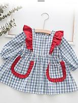 Недорогие -Дети (1-4 лет) Девочки Шахматка Платье Розовый