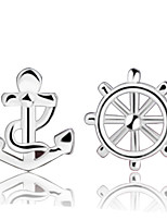 Недорогие -Жен. Белый Серьги Классический Цветы Стиль Художественный Роскошь модный корейский Позолота Серьги Бижутерия Серебряный Назначение Рождество Подарок Повседневные Офис фестиваль 1 пара