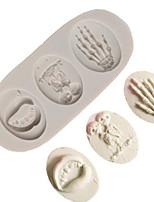 Недорогие -1шт кремнийорганическая резина Halloween Необычные гаджеты для кухни Десертные инструменты Инструменты для выпечки