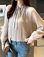 Недорогие -Жен. Блуза Однотонный Красный