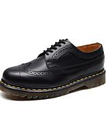 Недорогие -Муж. Официальная обувь Кожа Наступила зима Туфли на шнуровке Черный