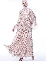 Недорогие -арабский Взрослые Жен. Косплей На каждый день Косплэй Kостюмы Арабское платье хиджаб Назначение Для вечеринок Halloween Шифон Хэллоуин Карнавал Маскарад Платье