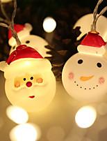 Недорогие -1.5 м 10led фонарь рождественский снеговик свет батареи рождественская елка санта клаус украшения свет шнура