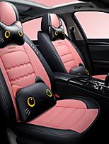Недорогие -5 шт. / Компл. Мультфильм милые пять подушек сидений автомобиля четыре сезона универсальный чехол для сиденья автомобиля льняная совместимая подушка безопасности, включая 2 подушки для головы и талии
