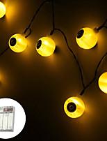 Недорогие -свет шнура для глазного яблока хэллоуин 3 м 20 на батарейках висит в помещении на открытом воздухе для заднего двора бистро беседка кафе теплый белый многоцветный белый