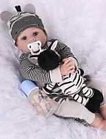 Недорогие -NPK DOLL Куклы реборн Куклы Мальчики Девочки 22 дюймовый как живой Безопасность Подарок Детские Универсальные Игрушки Подарок