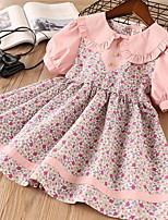Недорогие -Дети Девочки Симпатичные Стиль Цветочный принт Платье Розовый