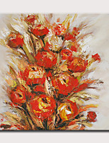 Недорогие -Hang-роспись маслом Ручная роспись - Абстракция Цветочные мотивы / ботанический Modern Без внутренней части рамки