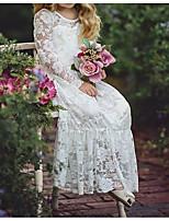 Недорогие -Дети Девочки Однотонный Платье Белый