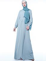 Недорогие -арабский Взрослые Жен. Косплей На каждый день Косплэй Kостюмы Арабское платье хиджаб Назначение Для вечеринок Halloween Полиэстер Хэллоуин Карнавал Маскарад Платье