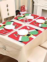 Недорогие -Рождественские украшения Новогодняя тематика Хлопковая ткань Прямоугольный Мультипликация Рождественские украшения