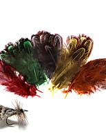 Недорогие -100 pcs Материал для вязания мушек Перья Перья Морское рыболовство Ловля нахлыстом Пресноводная рыбалка