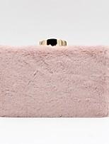 Недорогие -Жен. Искусственный мех / Сплав Вечерняя сумочка Сплошной цвет Розовый / Бежевый