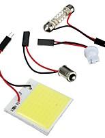Недорогие -48 шт. Светодиодный чип cob t10 ba9s гирлянда купол белый интерьер свет панели автомобиля лампы лампы