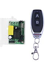 Недорогие -AC 220 В 1-канальный RF 433 МГц модуль беспроводного пульта дистанционного управления, код обучения 10a реле / a на b выкл защелкнутый рабочий путь
