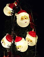Недорогие -1,5 м гирлянды 10 светодиодов dip светодиод теплый белый / белый / многоцветный декоративные / рождественские украшения свадьбы а. А. С питанием от батареи 1 шт.