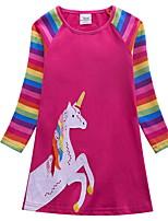 Недорогие -Дети Девочки Симпатичные Стиль Мультипликация Платье Пурпурный