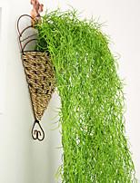Недорогие -1 шт. Моделирования искусственный цветок ротанга потолок зеленый виноград инженерное украшение ротанга верхний шкаф потолок столовая гостиная украшения цветок зеленое растение