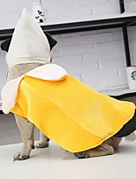 Недорогие -Собаки Коты Животные Костюмы Комбинезоны Волшебная Шляпа Одежда для собак Однотонный Желтый Полиэстер Костюм Назначение Зима Хэллоуин