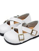 Недорогие -Девочки Удобная обувь Кожа На плокой подошве Маленькие дети (4-7 лет) Белый / Розовый Осень