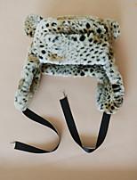 Недорогие -Жен. Универсальные Активный Классический Симпатичные Стиль Шапка-ушанка Искусственный мех,Леопард Осень Зима Белый Хаки