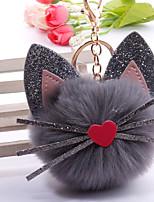 Недорогие -Брелок Кошка корейский Милая Мода Модные кольца Бижутерия Светло-Розовый / Белый / Пурпурный Назначение Повседневные Свидание