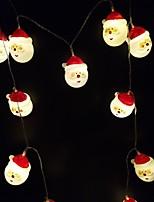 Недорогие -3 м гирлянда 20 светодиодов dip светодиод теплый белый / белый / многоцветный декоративные / рождественские украшения свадьбы питание от USB 1 шт.