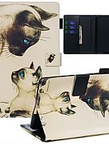 Недорогие -Кейс для Назначение Amazon Kindle Paperwhite 2018 Кошелек / Бумажник для карт / С узором Чехол Кот Кожа PU / ТПУ
