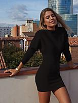 Недорогие -Жен. Классический Оболочка Платье - Однотонный Выше колена