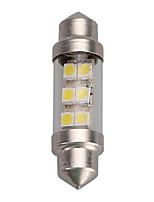 Недорогие -1шт 36мм 6smd 1210/3528 c5w автомобиль светодиодный гирлянда купольная лампочка