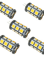 Недорогие -5шт 3.5 Вт светодиодные двухконтактные светильники 350 лм g4 gu6.5 18 светодиодные шарики smd 5050 теплый белый белый 9-30 В