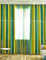 Недорогие -две панели европейский классический стиль вертикальная полоса печати плотные шторы гостиная спальня столовая детская комната занавес