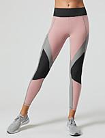 Недорогие -Жен. Штаны для йоги Контрастных цветов Танцы Фитнес Тренировка в тренажерном зале Велоспорт Колготки Нижняя часть Спортивная одежда Дышащий Влагоотводящие Быстровысыхающий Подтяжка Эластичность